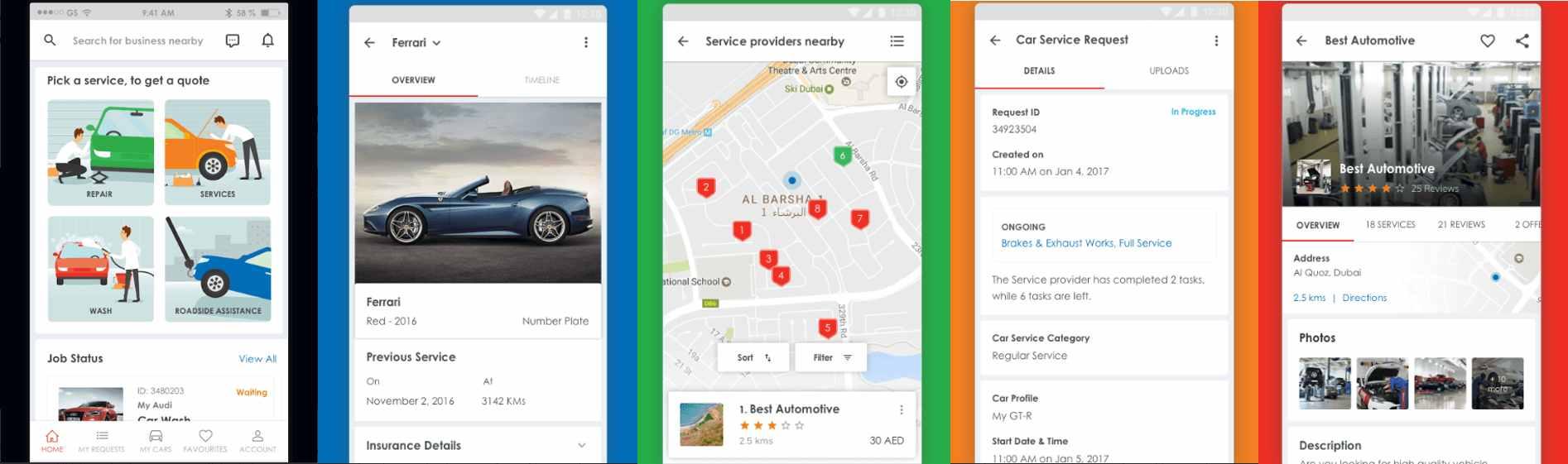 Carcility car service app Dubai
