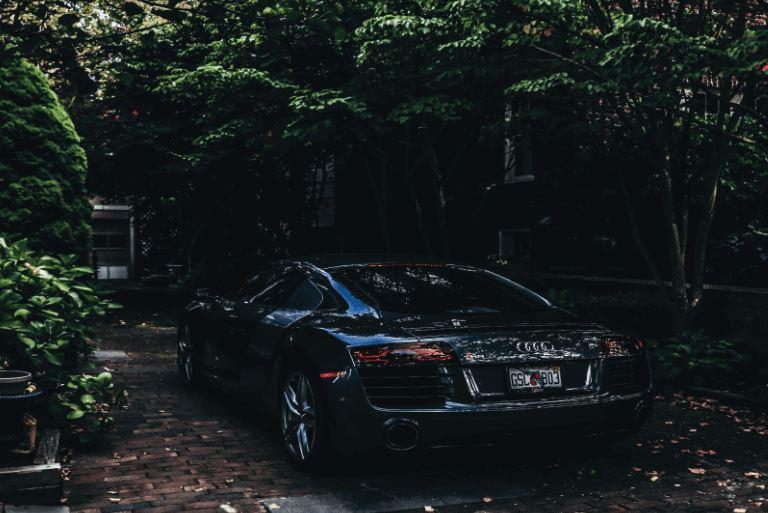 Car parking in summer