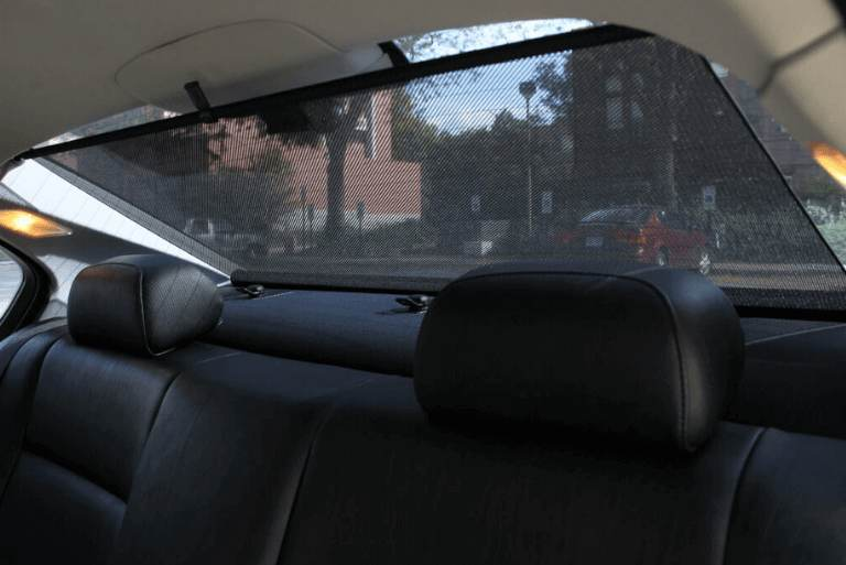 How do sunshades keep the car cool in summer