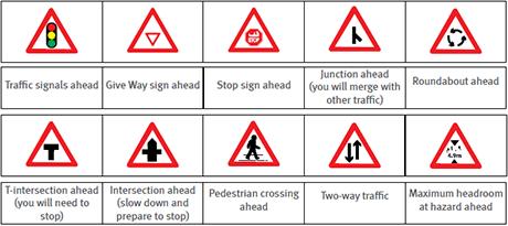 Dubai traffic signs