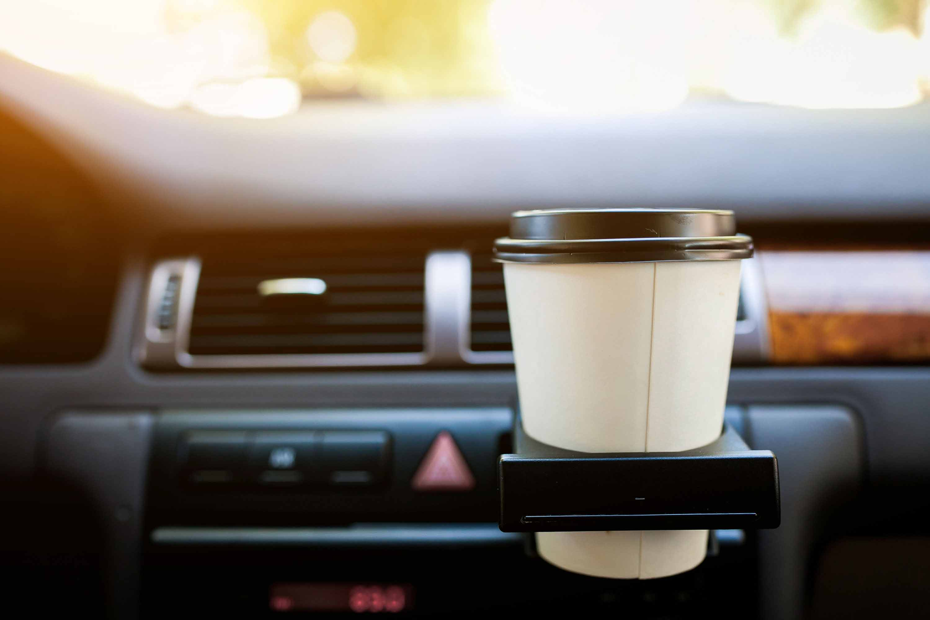 Cup holder inside car