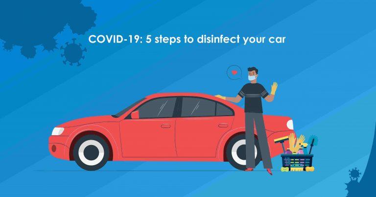 Disinfect your car against coronavirus
